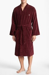 Men's Polo Ralph Lauren Velour Kimono Robe Classic Wine