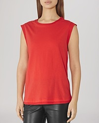 Reiss Top Gem Sleeveless Jersey Rum