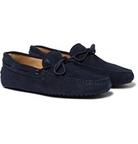 Tod's Gommino Suede Driving Shoes Navy