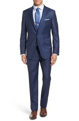 Hickey Freeman Men's 'Beacon' Classic Fit Solid Wool Suit