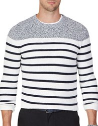 Nautica Breton Striped Sweater Marshmallow