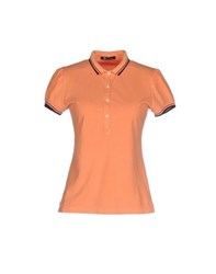 Calvaresi Topwear Polo Shirts Women Orange
