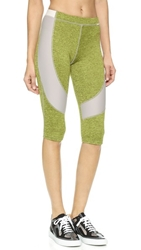 Vpl Spongy Flexure Capri Leggings Lemon Lime