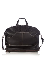 Givenchy Nightingale Patch Pocket Leather Holdall Black