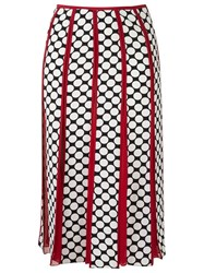 Reinaldo Lourenco Printed Midi Skirt Red