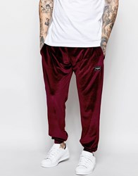 Jaded London Joggers In Velvet Red