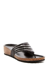 Italian Shoemakers Galaxy Wedge Thong Sandal Black