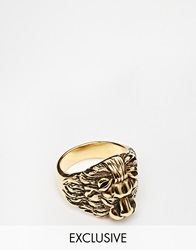 Reclaimed Vintage Lion Ring Gold