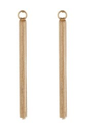 14Th And Union Linear Ring Fringe Earrings Metallic