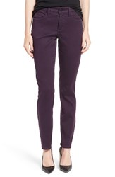 Nydj Women's 'Alina' Colored Stretch Skinny Jeans Deep Violette