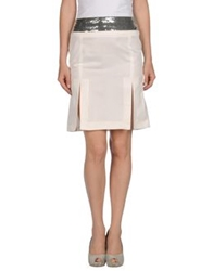 John Richmond Knee Length Skirts Ivory