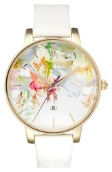 Women's Ted Baker Round Dial Leather Strap Watch 40Mm