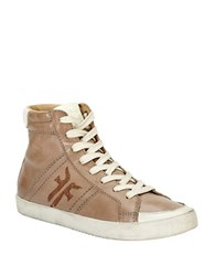 Frye Dylan High Top Sneakers Taupe