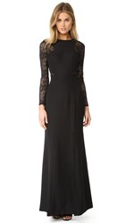Ali And Jay Long Sleeve Lace Gown Black