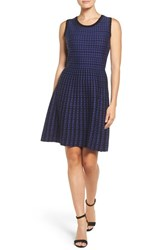 T Tahari Women's Daphine Jacquard Fit And Flare Dress