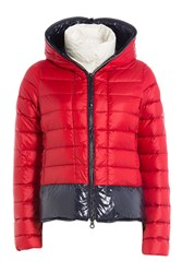 Duvetica Layered Down Jacket Red