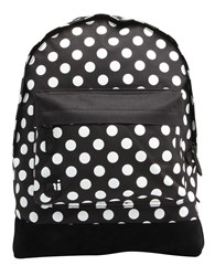 Mi Pac Polka Dot Backpack Black White
