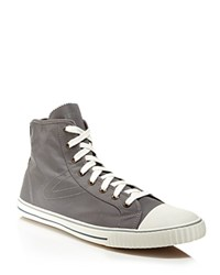 Tretorn Hockeyboot Ripstop High Top Sneakers Charcoal Gray