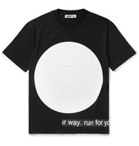 Mcq By Alexander Mcqueen Printed Cotton Jersey T Shirt Black