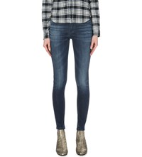 Hudson Jeans Nico Super Skinny High Rise Jeans Electric Clover