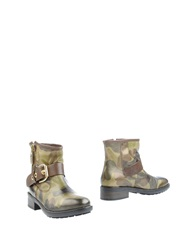 Alberto Gozzi Ankle Boots Military Green