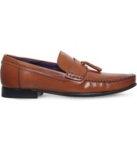 Ted Baker Simba Tassel Leather Penny Loafers Tan