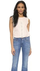 Love Sam Alice Sleeveless Top Light Rose