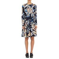 Stella Mccartney Women's Stretch Crepe A Line Dress Navy