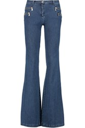 Michael Kors Collection Mid Rise Flared Jeans Blue