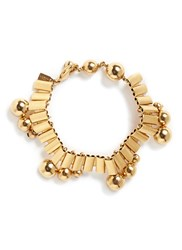 Ela Stone 'Barbara' Sphere Watch Chain Brass Bracelet Metallic