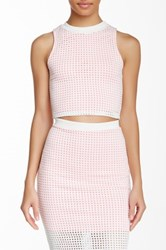 Blvd Perforated Sleeveless Blouse White