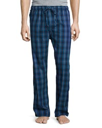 Derek Rose Plaid Flannel Pajama Pants Navy