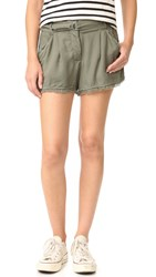 Splendid Crosshatch Shorts Military Olive