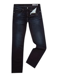 Duck And Cover Straight Fit Tapered Boxren Jeans Deep Blue