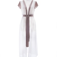 Roses Are Red Romance In Disguise Kimono Silk And Cotton White