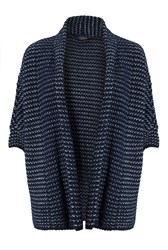 James Lakeland Stripy Cardigan Navy