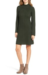 Sequin Hearts Women's Bell Sleeve Knit Sweater Dress Olive