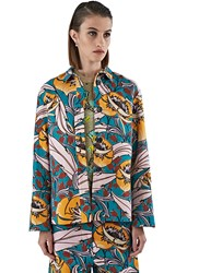 Marni Long Floral Jacquard Shirt Green