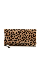 Clare V. Supreme Haircalf Fold Over Clutch Leopard