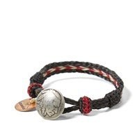 Chamula Indian Concho Bracelet Black And Red