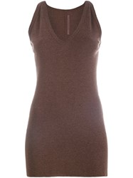 Rick Owens Lilies Racer Back Tank Brown