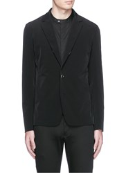 Attachment Notch Lapel Tech Nylon Blazer Black