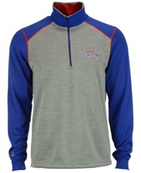 Antigua Men's Washington Capitals Breakdown Quarter Zip Pullover
