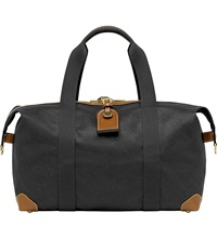 Mulberry Small Clipper Holdall Black Cognac