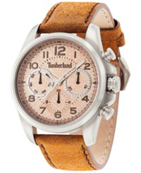 Timberland Men's Smithfield Brown Leather Strap Watch 46X57mm Tbl14769js07