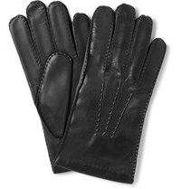 Dents Haftebury Touchcreen Cahmere Lined Leather Glove Black