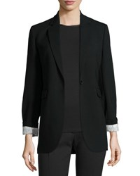 Joseph Laurent Stretch Wool Blazer Black