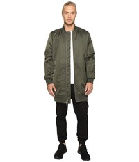 Members Only Elongated Ma 1 Bomber Jacket Green Men's Coat