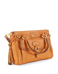 Dooney And Bourke Florentine Medium Pocket Satchel Natural