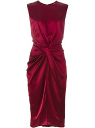 Camilla And Marc 'Emulsion' Draped Dress Red